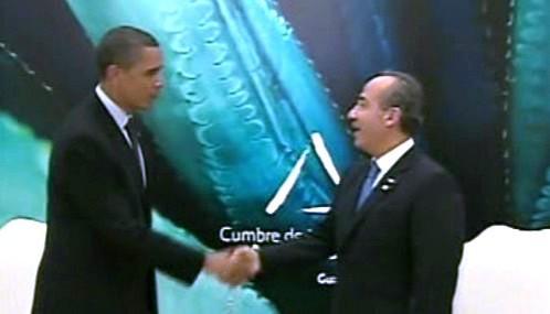 Barack Obama a Felipe Calderón