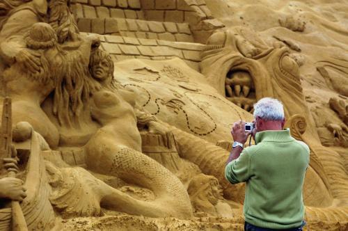 Festival písečných soch v belgickém Blankenberge