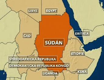 Mapa Súdánu