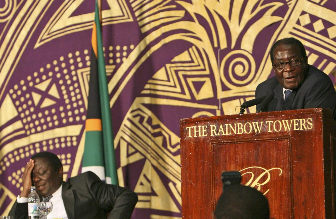 Morgan Tsvangirai a Robert Mugabe