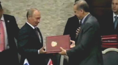 Podpis smluv mezi Tureckem a Ruskem