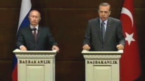 Vladimir Putin a Tayyip Erdogan