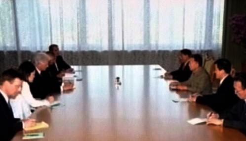 Bill Clinton na jednání s Kim Čong-ilem
