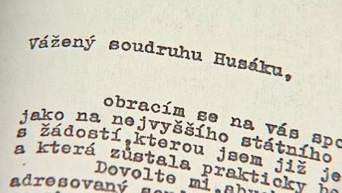Dopis prezidentovi Gusávu Husákovi