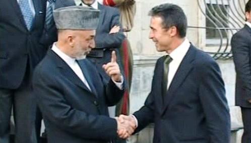 Hamíd Karzáí a Anders Fogh Rasmussen