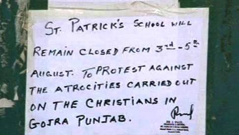 Křesťnaské školy v Pákistánu zůstanou zavřené