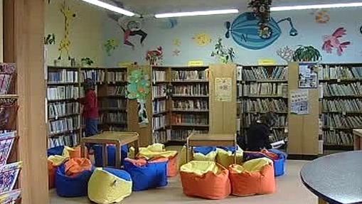 Interiér písecké knihovny