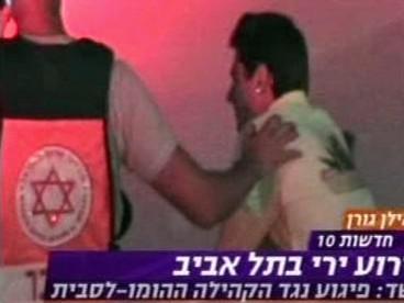 Zraněný gay po střelbě v Tel Avivu