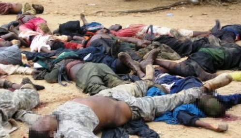 Oběti násilí v Nigérii