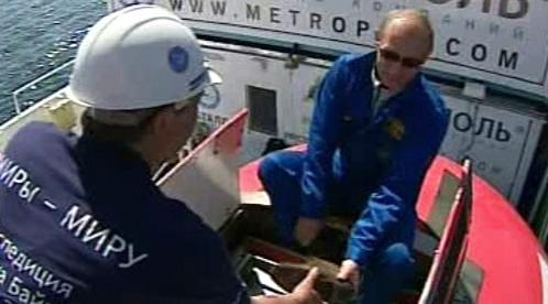Vladimir Putin se chystá na ponor