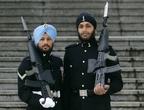 Sikhové ve stráži britské královny