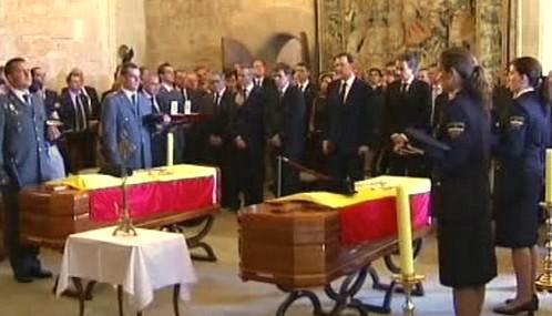 Pohřeb obětí pumového útoku na Mallorce