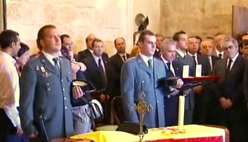 Pohřeb policistů zabitých při pumovém útoku na Mallorce