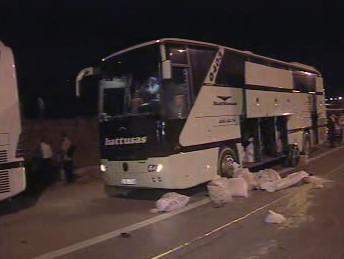 Havárie autobusu ve Španělsku