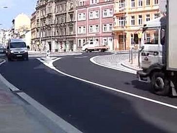 Sokolovská ulice po rekonstrukci