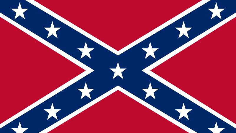Vlajka Konfederace - tradiční symbol jihu USA