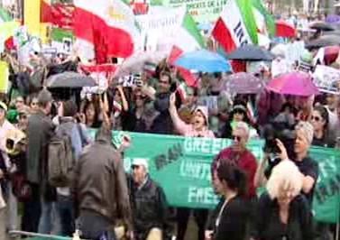 Demonstrace proti íránskému režimu