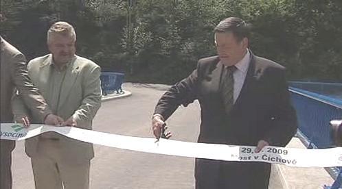 Otevření mostu v Číchově