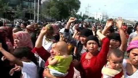 Ujgurští obyvatelé Urumči
