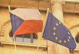 Vlajky ČR a EU