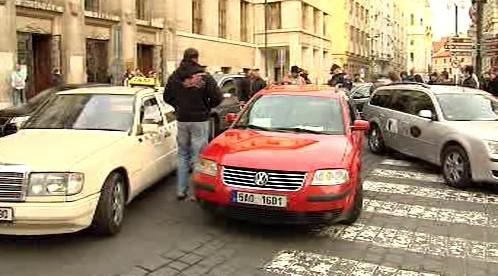 Demonstrace taxikářů