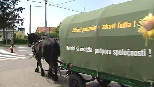 Slovenský ministr zemědělství kočuje venkovem