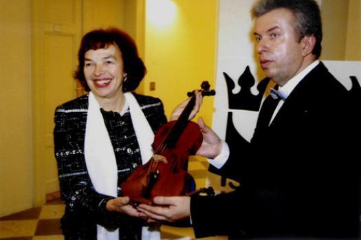 Livia Klausová a Jaroslav Svěcený