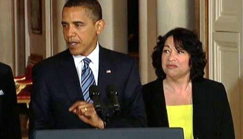 Barack Obama a Sonia Sotomayorová