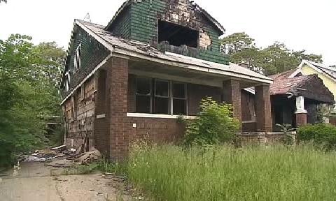 Opuštěný dům v Detroitu
