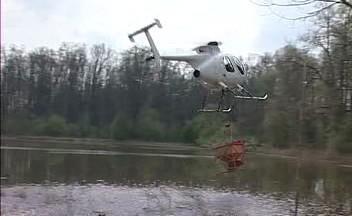 Postřik vrtulníkem