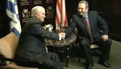 Robert Gates a Ehud Barak