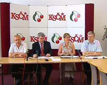 Tisková konference KSČM