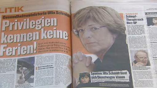 Ulla Schmidtová v hledáčku listu Bild
