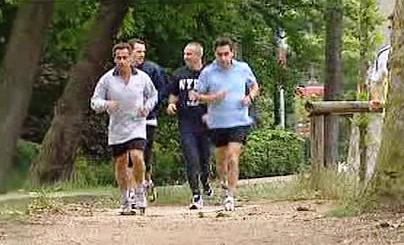 Sportující Nicolas Sarkozy