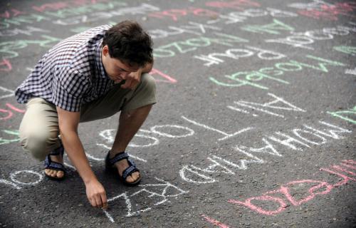 Protesty proti politice Íránu v Praze