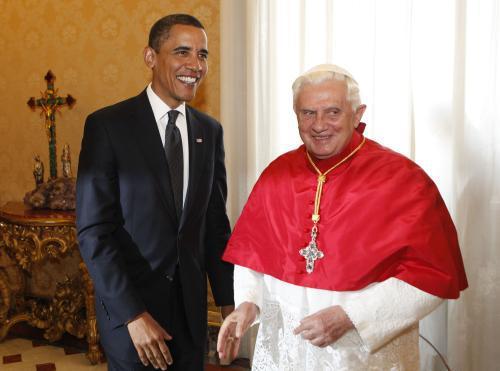 Barack Obama a Benedikt XVI.