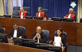 Haagský tribunál při vynesení rozsudku nad Šešeljem