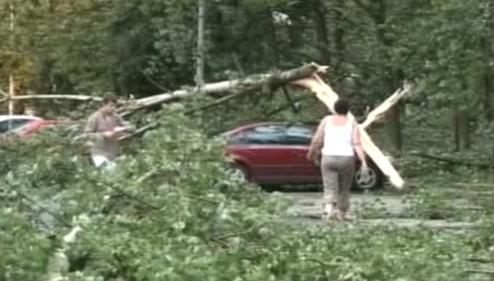 Následky bouře v Polsku