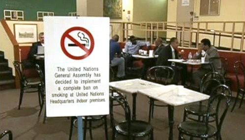 Zákaz kouření v budově OSN