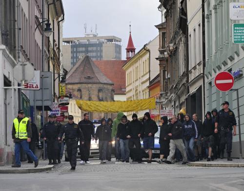 Pochod extremistů v Chomutově