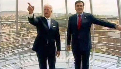 Joe Biden a Michail Saakašvili