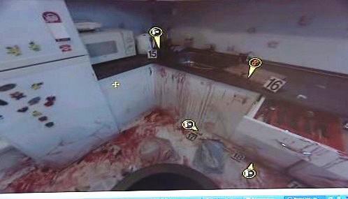 Záběry trojrozměrného snímače z místa činu