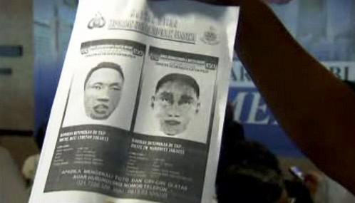 Portréty indonéských atentátníků