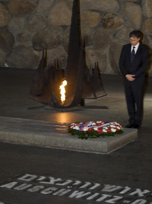 Jan Fischer na návštěvě památníku Jad Vašem v Jeruzalémě
