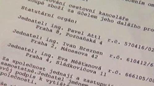 Jména obžalovaných z CK Travela