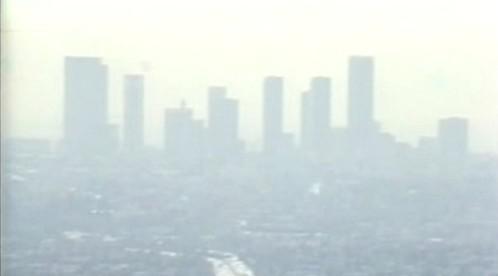 Smog nad americkým městem