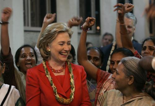 Hillary Clintonová v Indii