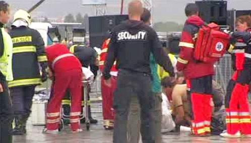 Záchranáři zasahují na festivalu Pohoda