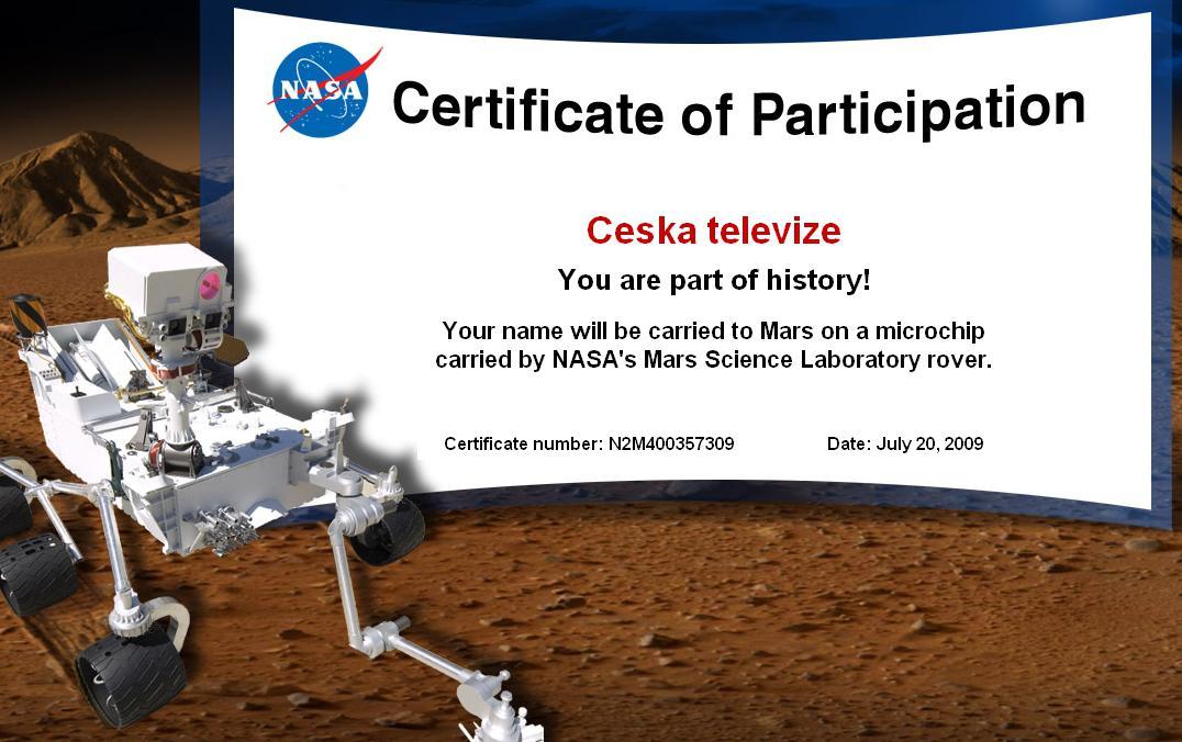 Česká televize poletí na Mars