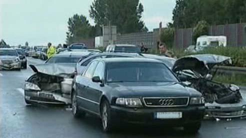 Hromadná nehoda v Německu